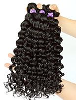 Tissages de cheveux humains Cheveux Indiens Ondulation profonde 12 mois 3 tissages de cheveux