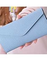 Women Coin Purse PU All Seasons Square Zipper Green Blushing Pink Blue