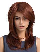 Fluffy Natural Oblique Fringe Long Hair Synthetic Wig