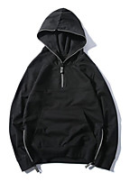 Women's Daily Casual Hoodie Solid Hooded Micro-elastic Polyester Long Sleeve Summer