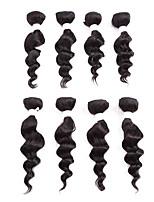Trecce Crochet pre-ciclo Riccio Crochet trecce con capelli umani Kanekalon Nero Extensions per capelli 8 pollici capelli Trecce
