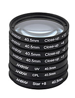 Andoer 40.5mm uv cpl star8close-up (1 2 4 10) filtro de fotografia ultravioleta circular polarizador estrela 8 pontos macro close-up lente