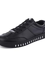 Для мужчин Кеды Удобная обувь ПВХ Весна Лето Повседневные На плоской подошве Белый Черный Красный 2,5 - 4,5 см