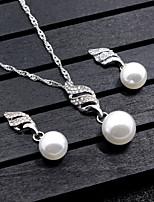 Femme Set de Bijoux Perle imitée Pendant Forme Ronde PourMariage Soirée Occasion spéciale Anniversaire Fête/Soirée Soirée / Fête