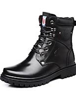 Для мужчин Ботинки Зимние сапоги Модная обувь Мотоциклетные ботинки Натуральная кожа Наппа Leather Кожа Зима Повседневные ШнуровкаНа