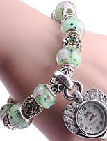 Жен. Часы-браслет Цифровой Металл Группа Синий Зеленый