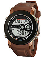 Men's Sport Watch Digital Rubber Band Black Brown