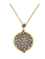 Women's Pendant Necklaces Rhinestone Circle Rhinestone Rhinestones Alloy Circular Jewelry ForWedding Party Special Occasion Anniversary
