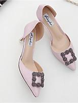 Damen High Heels Fersenriemen PU Frühling Normal Fersenriemen Silber Rosa 5 - 7 cm