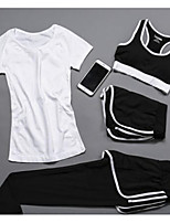 Women's Short Sleeve Running Tracksuit Underwear Clothing Suits Cycling Fitness, Running & Yoga Casual Sports All Seasons Sports WearYoga