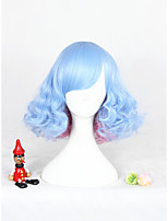 Blue Pink Mixed Lolita Wig For Girls Free Shipping 12inch Short Curly Synthetic Anime Cosplay Party Hair Wig Heat Resistant Wig