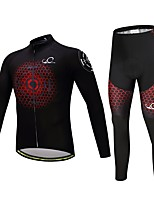 Cycling Jersey with Tights Unisex Long Sleeves Bike Clothing Suits Thermal / Warm Thick Polyester Silicon Fleece LYCRA® Winter