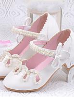 Girls' Flats Comfort Flower Girl Shoes Leatherette Summer Fall Casual Dress Comfort Flower Girl Shoes Hook & Loop Flat HeelBlushing Pink
