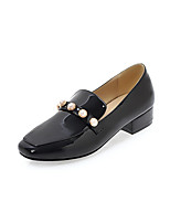 Women's Flats Comfort Light Soles Spring Fall Synthetic Microfiber PU Casual Office & Career Imitation Pearl Flat Heel White Black Beige