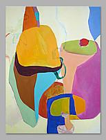 Ручная роспись Абстракция Вертикальная,Художественный 1 панель Холст Hang-роспись маслом For Украшение дома