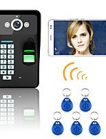 720p sans fil wifi rfid mot de passe reconnaissance d'empreinte digitale porte vidéo porte porte interphone système vision nocturne caméra