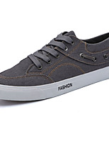 Men's Sneakers Comfort Spring Fall Denim Outdoor Lace-up Flat Heel Black Gray Royal Blue Under 1in