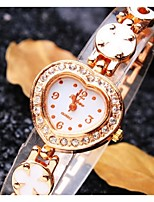 Women's Fashion Watch Digital Alloy Band Casual Gold