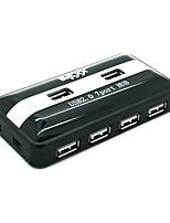 YUANKAIDA USB JY-H006 HUB USB2.0 High-Speed 480 Mbps 7 Ports