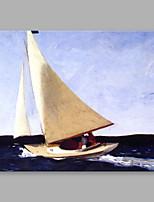 Pintados à mão Abstrato Horizontal,Artistíco Abstracto Retro 1 Painel Tela Pintura a Óleo For Decoração para casa