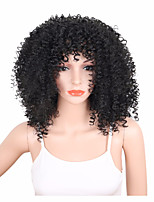 Black Natural Fashion Daily Wig for Afro Women Sexy Beauty Synthetic Wig Heat Resistant