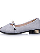 Women's Loafers & Slip-Ons Light Soles Nubuck leather Spring Summer Casual Dress Walking Light Soles Imitation Pearl Metallic toe Low Heel