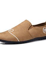 Для мужчин Туфли на шнуровке Мокасины Резина Весна Осень Мокасины На плоской подошве Белый Черный Оранжевый Менее 2,5 см