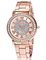 XU Women's Luxurious Elegant Quartz Alloy Steel Belt Wrist Watch Diamonds Dress Watch