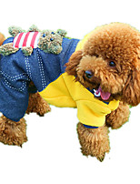 Dog Clothes/Jumpsuit Dog Clothes Casual/Daily Cartoon Ruby Yellow