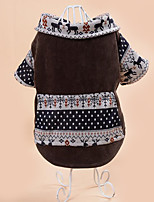 Dog Coat Dog Clothes Casual/Daily British Brown Gray