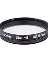 Conjunto de filtro de 40,5 mm e conjunto de filtro uv cpl estrela Kit de filtro de 8 pontos com estojo para lente de câmera canon nikon