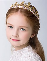 Girl's Crown Headband Rhinestone Flower Princess Flower Girl Hair Accessory