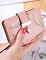 Women Money Clip PU All Seasons Casual Square Zipper Black Azure Blushing Pink