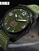 SKMEI Clock Leather Male Fashion Casual Watches Relojes Waterproof Mens Wristwatches Relogio Masculino Quartz Watch