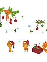Animales Navidad De moda Pegatinas de pared Calcomanías de Aviones para ParedCalcomanías Decorativas de Pared Calcomanías Para Medir la