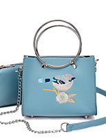 Women Bag Sets PU All Seasons Wedding Event/Party Casual Sports Formal Outdoor Office & Career Messenger Metal Chain Embroidered Zipper