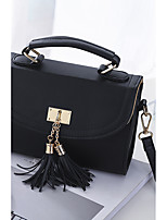 Women Shoulder Bag PU Polyester All Seasons Event/Party Casual Outdoor Square Zipper Tassel Hook and Loopsky blue Light Purple Blushing