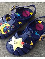 Девочки Сандалии Удобная обувь ПВХ Лето Повседневные Удобная обувь Красный Синий На плоской подошве