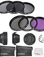 Andoer kit de filtro de lente de 49mm uv cpl fld nd (nd2 nd4 nd8)