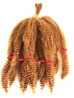 Afro Kinky плетенки Кудрявый Афро Kanekalon Темно-рыжий Темное вино Вино Черный Средний коричневый Наращивание волос 8 дюйм косы волос