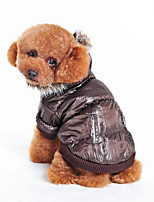 Dog Coat Dog Clothes Casual/Daily Solid Brown Gray Beige