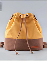 Women Shoulder Bag Canvas All Seasons Casual Outdoor Round Without Zipper Yellow Beige Red