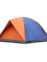 3-4 persons Tent Double Camping Tent Fold Tent Waterproof Thermal / Warm Rain-Proof Foldable for CM Canvas