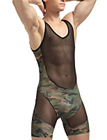 Men's Men Sexy Push-Up Voiles & Sheers Long Johns