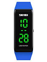 SKMEI Mujer Reloj Deportivo Reloj de Moda Reloj de Pulsera Reloj digital Japonés Digital LED Calendario Resistente al Agua Luminoso PU