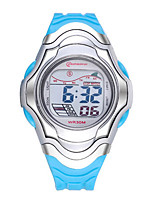 Kid's Sport Watch Fashion Watch Digital Water Resistant / Water Proof Noctilucent Rubber Band Blue Purple