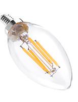 4W LED лампы в форме свечи C35 4 COB 300-400 lm Тёплый белый Диммируемая Декоративная AC 110-130 V 1 шт.