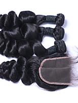 Tejidos Humanos Cabello Cabello Brasileño Ondulado Amplio Más de Un Año 4 los tejidos de pelo