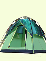 3-4 persons Tent Camping Tent Automatic Tent Keep Warm for Camping / Hiking Casual CM Shell Fabric