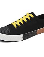 Для мужчин Кеды Удобная обувь Светодиодные подошвы Полотно Лето Осень Повседневные Удобная обувь Светодиодные подошвы ШнуровкаНа плоской